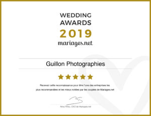 Wedding Awards 2019 guillon photographies